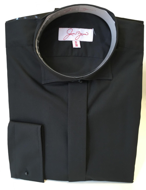 Edwardian Collar Shirt - Black