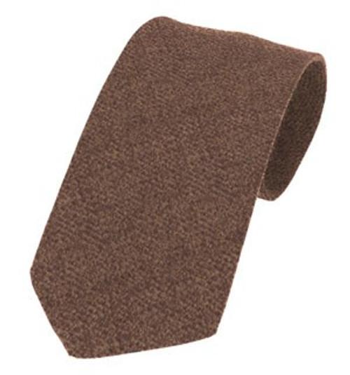 Islay Pure Wool Tie - Walnut