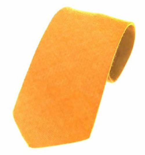 Plain Twill Wool Tie - Gold