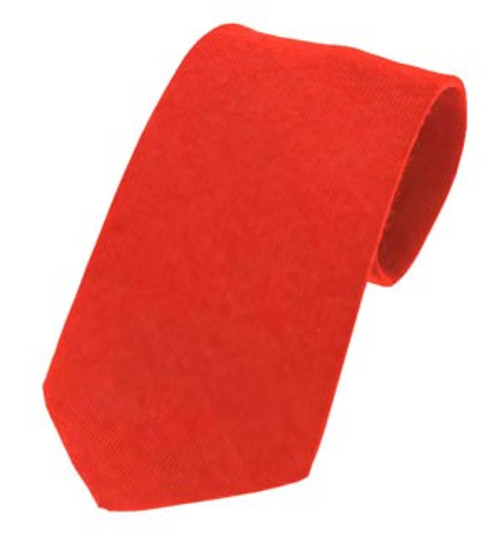 Plain Twill Wool Tie - Ancient Red