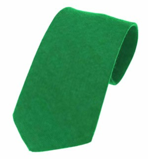 Plain Twill Wool Tie - Flower of Scotland Green