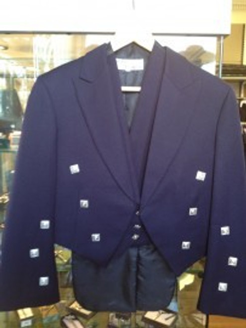 Navy Prince Charlie Jacket with 3-Button Waistcoat (Ex-Hire)