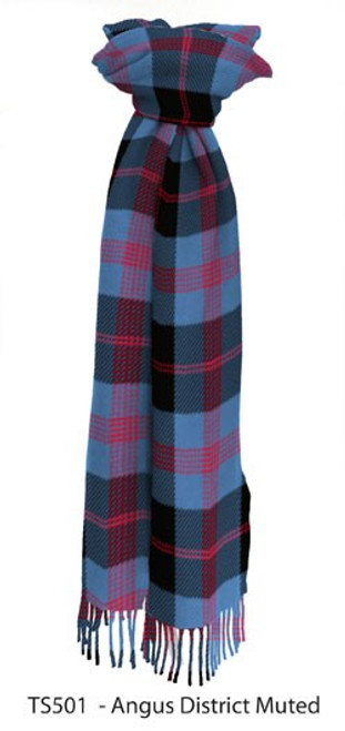 Angus Muted District Tartan Lambswool Scarf
