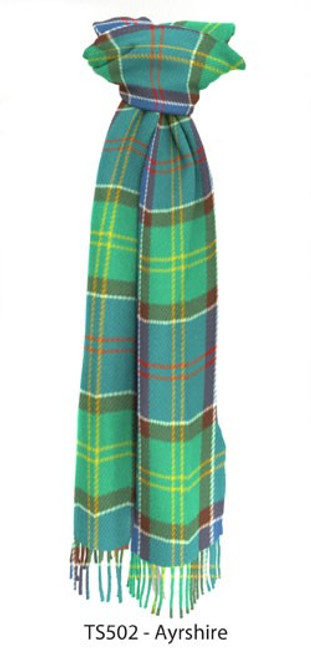 Ayrshire District Tartan Lambswool Scarf