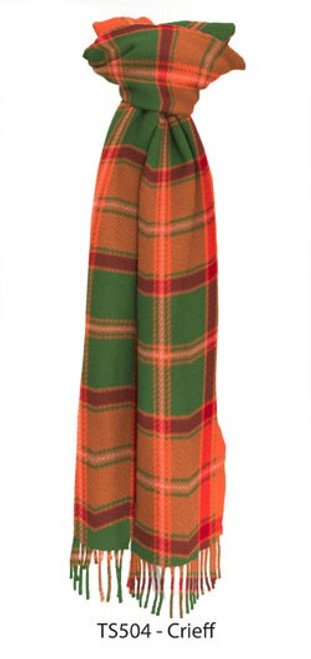 Crieff District Tartan Lambswool Scarf