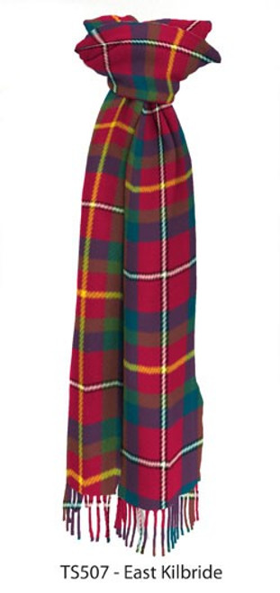East Kilbirde District  Tartan Lambswool Scarf
