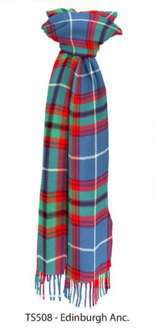 Ancient Edinburgh District Tartan Lambswool Scarf