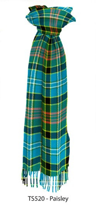 Paisley District Tartan Lambswool Tartan Scarf