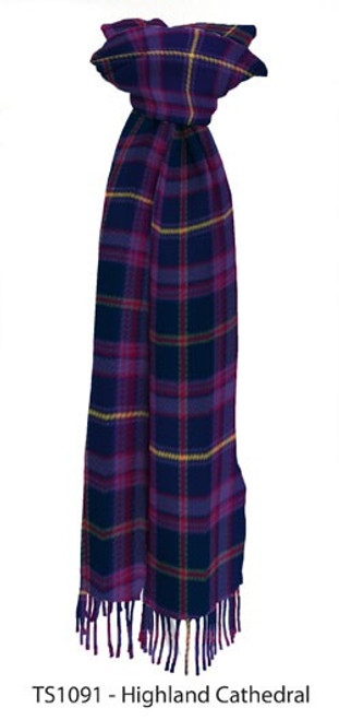 Highland Cathedral Tartan Lambswool Scarf