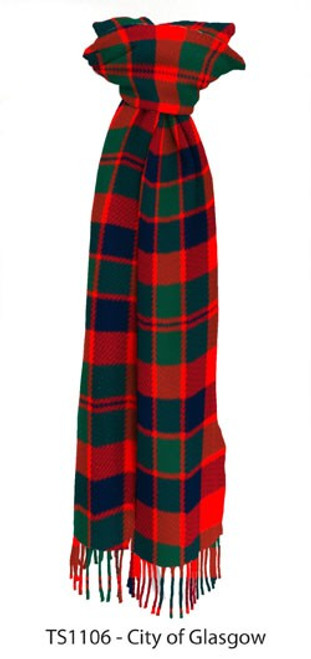 City of Glasgow District Tartan Lambswool Scarf