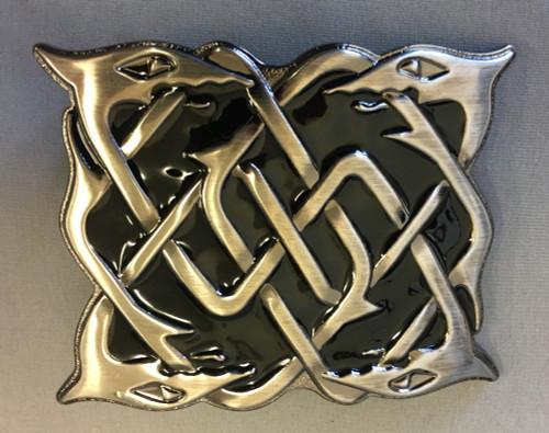 Serpent black enamel antique