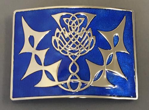Highland thistle blue enamel