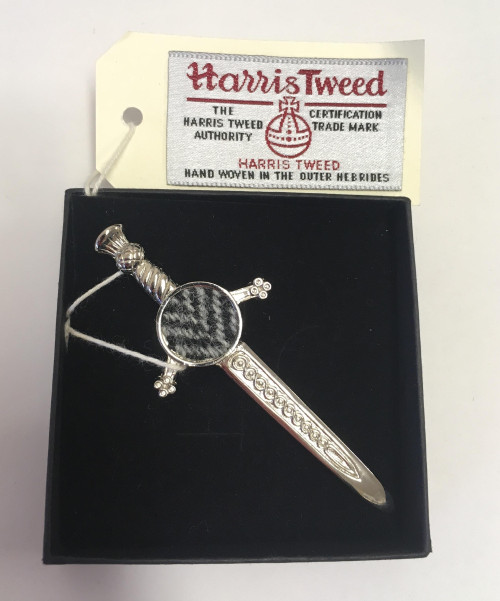 Harris Tweed Pewter Kilt Pin