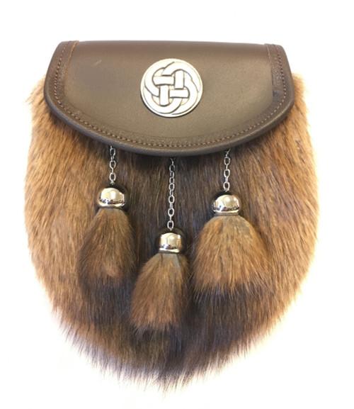 Brown leather semi dress - Musquash