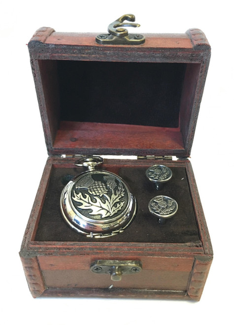 Pocket watch and cufflinks