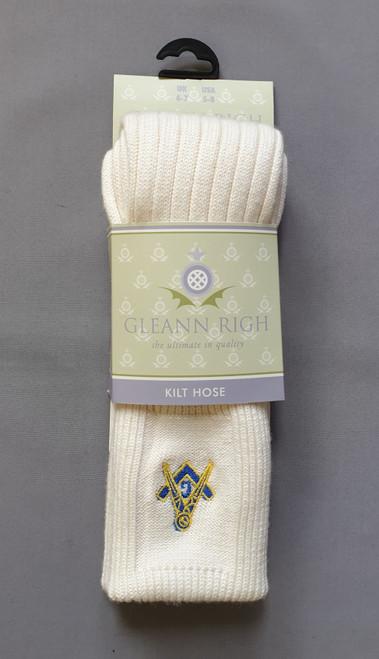 Torvaig ecru masonic socks