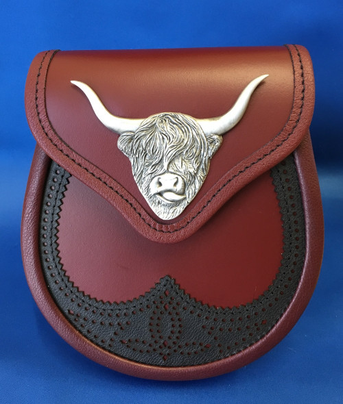 Highland Cow Leather Sporran