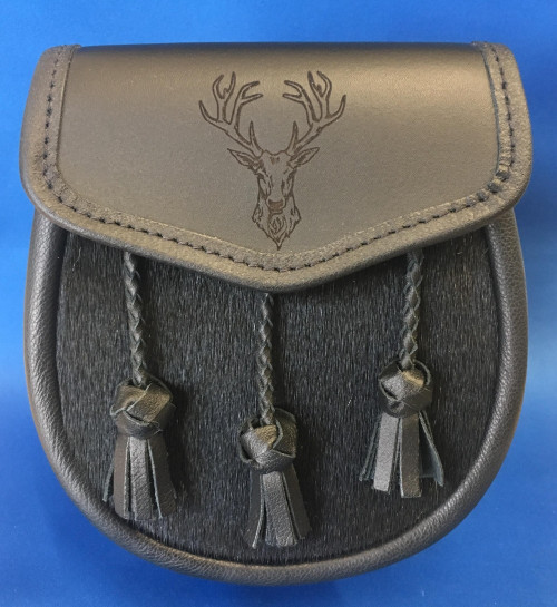 Semi dress sporran stags head
