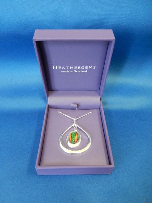 Heathergems Open Tearlach Silver Plated Pendant