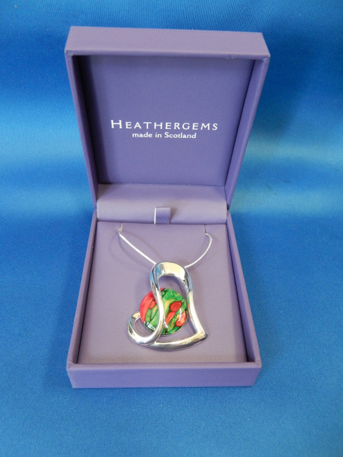 Heathergems Heart Silver Plated Pendant