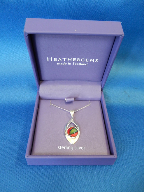 Heathergems Open Oval Sterling Silver Pendant