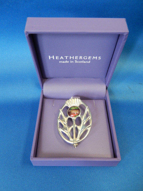 Heathergems Pewter Thistle Brooch