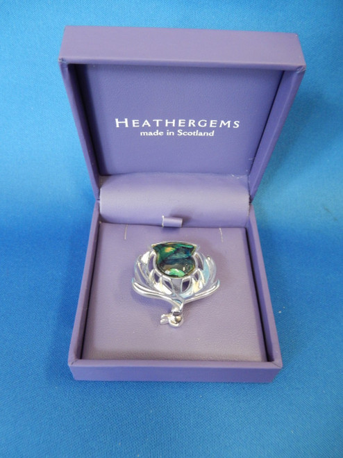 Heathergems Brora Silver Plated Brooch