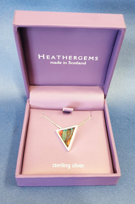 Heathergems Neuk Triangular Silver Plated Pendant
