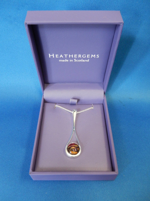 Heathergems Braon Long Silver Plated Pendant