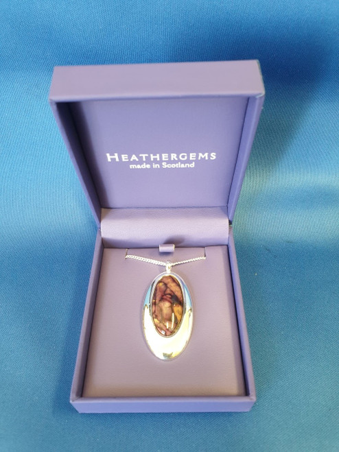 Heathergems Oval Silver Plated Pendant