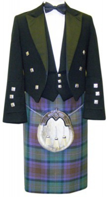 Black Prince Charlie Jacket with Isle of Skye Tartan Kilt