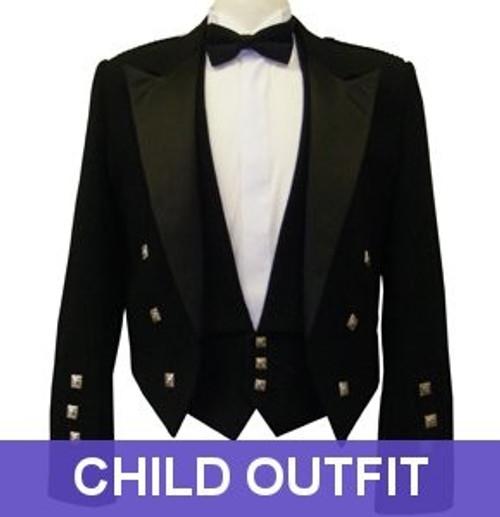 Black Prince Charlie Jacket - Child Outfit