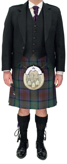 Charcoal Crail Jacket with Isle of Skye Tartan Kilt