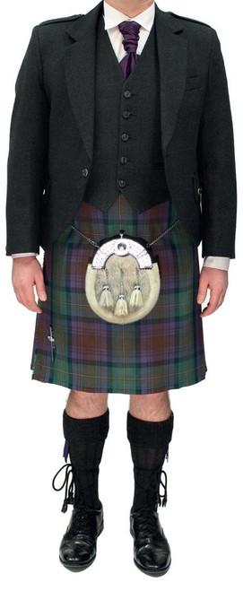 Charcoal Crail Jacket with Isle of Skye Tartan Kilt