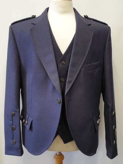 Braemar Jacket and 5 Button Waistcoat - Islay Twilight - New