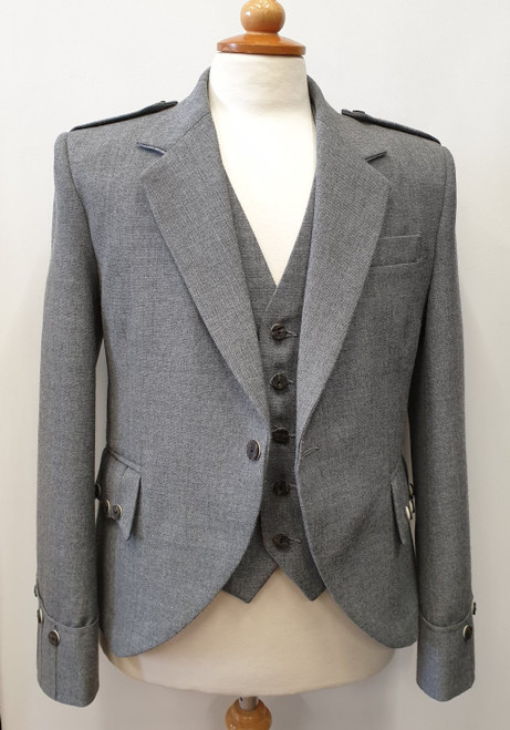 Argyll Jacket and 5 Button Waistcoat - Light Grey Arrochar