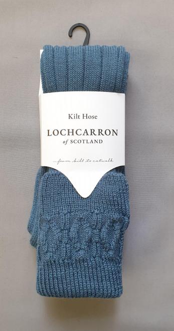 Lovat blue kilt hose by Lochcarron