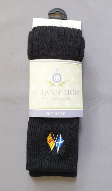 Torvaig black sock - flags of Scotland
