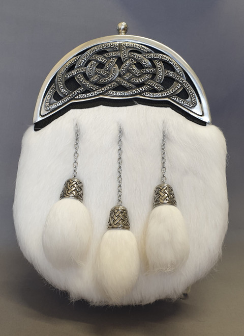 White rabbit dress sporran