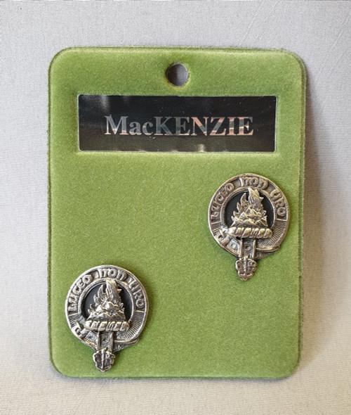 Clan crest cufflinks - MacKenzie