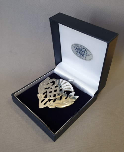 Pewtermill thistle brooch