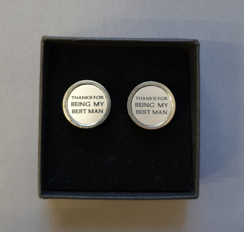 Thanks for being my best man cufflinks