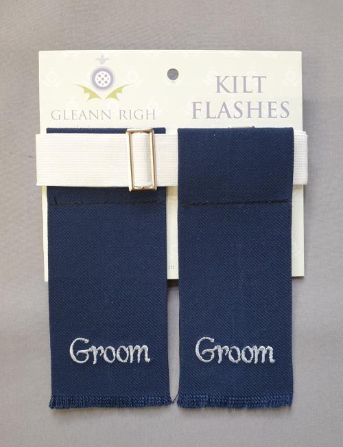 Garter flashes - Groom (navy)