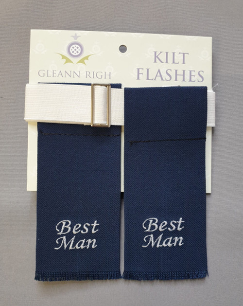 Garter flashes - Best man (Navy)