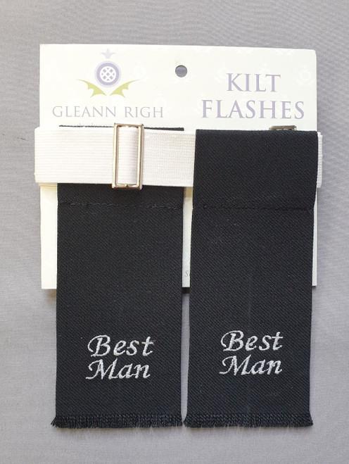 Garter flashes - Best man (black)