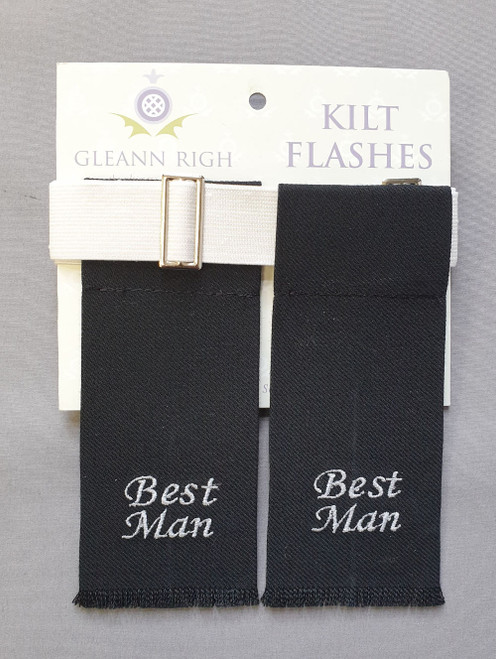 Garter flashes - Best man (black)