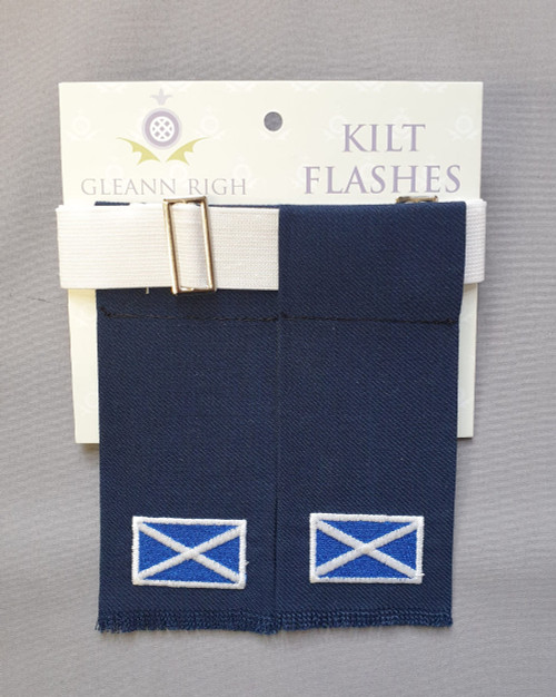 Garter flashes - Saltire (navy)