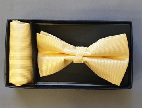 Bow-tie and pocket square - Yellow