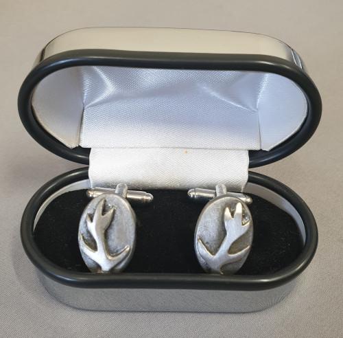 Pewtermill cufflinks antler