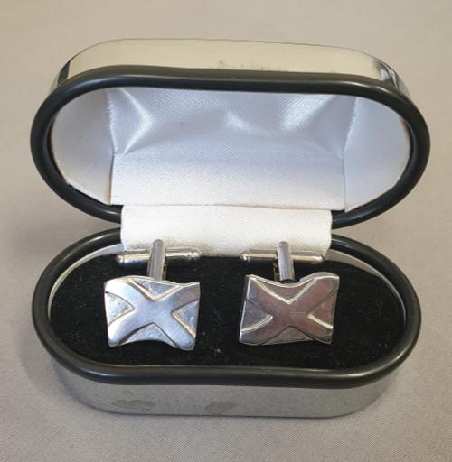 Pewtermill cufflinks, saltire